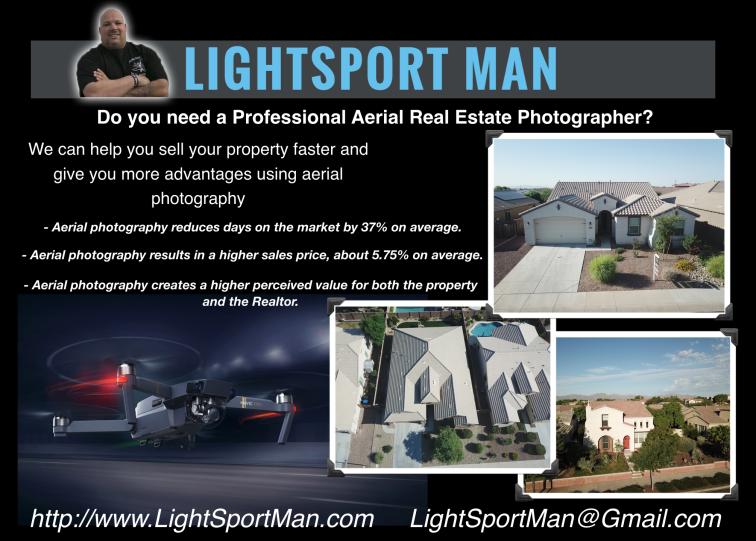 LightSport Man - Do you need a Professional Aerial Real Estate Photographer?